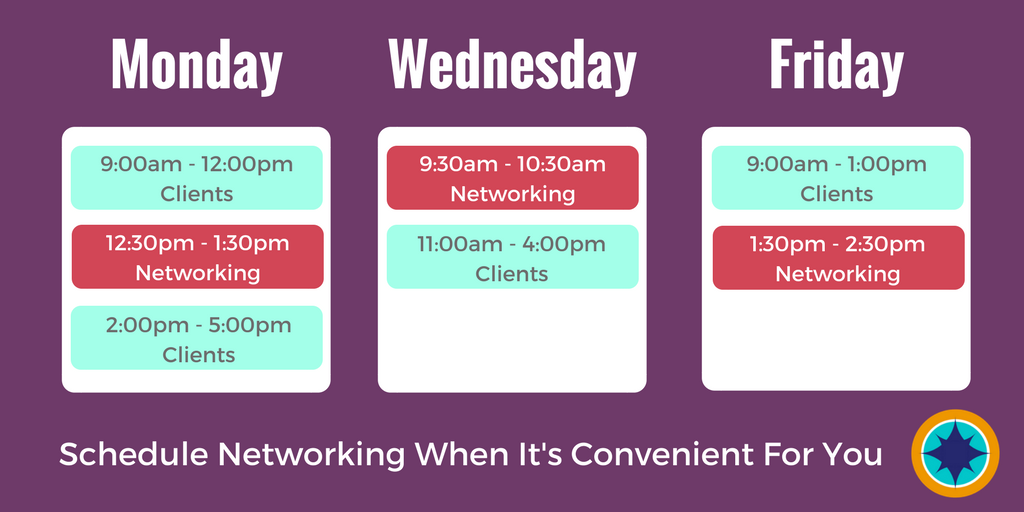 Networking Burnout Is A Thing - Networking Schedule