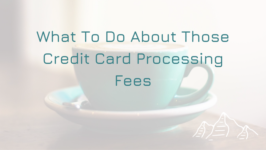 What To Do About Those Credit Card Processing Fees