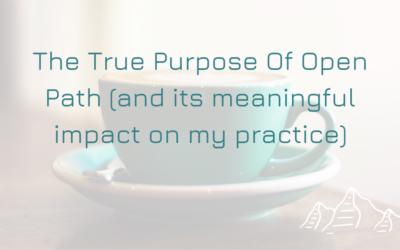 The True Purpose of Open Path