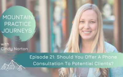 Episode 21: Should You Offer A Phone Consultation To Potential Clients?