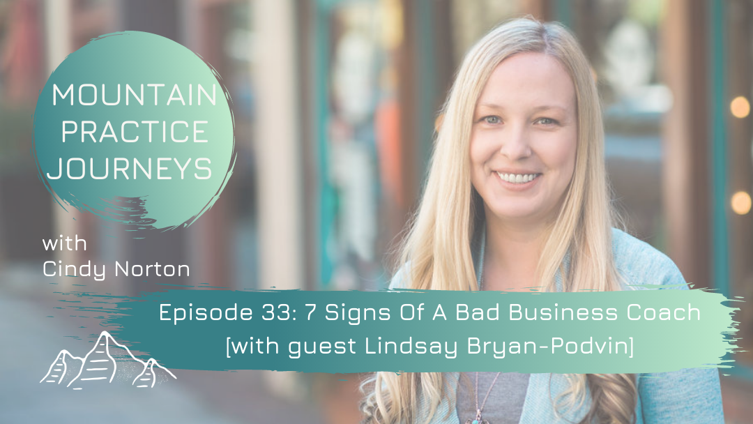 Episode 33: 7 Signs Of A Bad Business Coach with guest Lindsay Bryan-Podvin